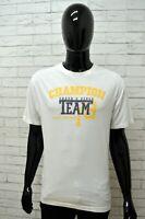 Maglia CHAMPION Uomo Taglia Size XL Maglietta Shirt Man Manica Corta Bianco Slim