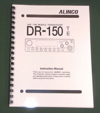 Alinco DR-150T/E Instruction Manual - comb bound & protective covers!