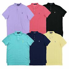 Polo Ralph Lauren para hombre de punto elástico de malla Polo Camiseta Clásico Calce S M L XL XXL Nuevo