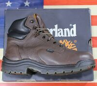 """Timberland Pro Titan 6"""" Safety Toe Alloy Boot Brown WP Leather [26078] Mens 10 D"""