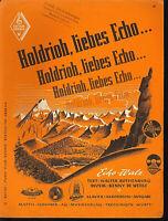 """"""" Holdrioh, liebes Echo... """" -  von Benny de Weille"""