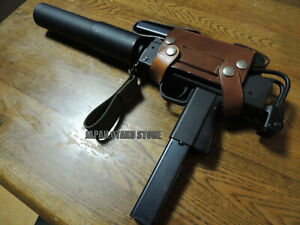 REPLICA INGRAM MAC 11 M11 COBRAY MGC Cap Unfire with HIP LEATHER HOLSTER
