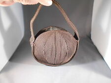 Vintage 1940's Small Brown Woven Cord Small Handbag With Zipper.