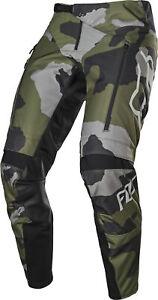 Fox Racing Legion Camuflaje Caballeros MX Offroad Pantalón Gris/Verde