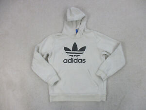 Adidas Sweater Youth Extra Large Brown Black Spell Out Pullover Hoodie Kid Boys