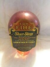 Vintage Shur-Stop Glass Grenade Fire Extinguisher USA
