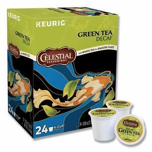 Celestial Seasonings Decaf Green Tea With White Tea Keurig K cups 24 Count