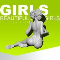 1/35 Summer Beach Girls TD-2150 Epoxy Resin Model Kit Home Decoration Hot
