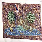 1970s extra fine needle point textile Of A Queen, Lion, And Unicorn