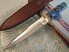 Timber Rattler Rain Dance Dagger Bowie Hunter Knife Full Tang Bone TR156 12 1/4""