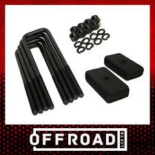 """88-98 Chevy GMC C1500 C2500 C3500 2WD Rear Lift Kit 2"""" Steel Blocks U-bolts"""