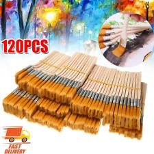 120tlg Malerpinsel Set Farbpinsel Flachpinsel Lackpinsel Eckenpinsel Lasur Satz