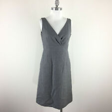 Banana Republic S 6 Gray 100% Wool Dress Empire waist Sleeveless EUC Suiting