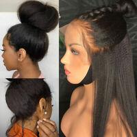 Italian Light Yaki Straight 100% 9A Virgin Human Hair Wigs 360 Lace Frontal Wig