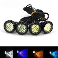 2pcs 15W Car Motorcycle LED Eagle Eye Daytime Running DRL Tail Light Lamp Backup