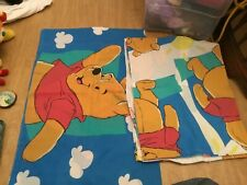 Disney Winnie the Pooh Twin Flat Bed Sheet Pillowcase Pooh & Piglet Fabric