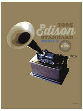"""Spin Alley """"The Icons"""" Edison Standard Model B Phonograph Poster"""