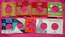 MERCURY - lot of (9) vintage 45 rpm Company Sleeves
