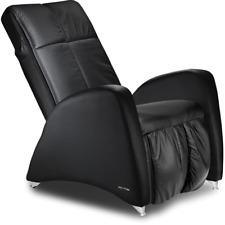 Massagesessel KEYTON Deco in Echtleder schwarz