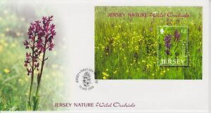 Unaddressed Jersey FDC First Day Cover 2003 Nature Wild Orchids II Sheet No Opt