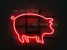 "New Bbq Pig Shop Open Neon Sign Light Lamp 17""x14"" Bar Pub Decor Holiday Gift"
