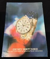 Seiko Watches catalogue c. 1969, 1960s, Japan, timepiece, watch, horology