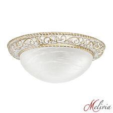 Ceiling Light ø36 Gold White Glass 2x60W Hanging Lamp