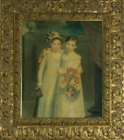 20th Century Lithograph - Twins In Bonnets