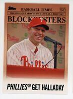 2012 Topps #BB-21 ROY HALLADAY Philadelphia Phillies BLOCKBUSTERS INSERT CARD