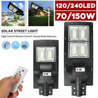 150W 70W Solar LED Sensor movimiento Lámpara de sincronización de pared + remoto