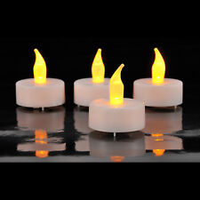 4x4 16 LED Teelichte Teelichter elektrische Kerzen Inkl. Batterien Flackernd