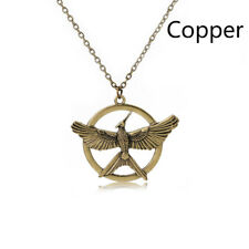 Hunger Games Gold Silver Mockingjay Pendant Necklace Men Women Fashion Jewelry