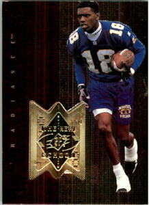 1998 SPx Finite Radiance Minnesota Vikings Football Card #321 Randy Moss NS /850