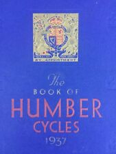 Vintage Bicycles - Humber Brochure/Catalogue - 1937 - Excellent Condition