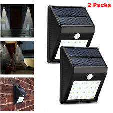 2x 20 LED Solar Power PIR Motion Sensor Wall Lights Outdoor Garden Security Lamp