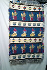 Vintage Rug Wall Hanging Baby Child Kids Room Decor 25 x 42 Jack in the box