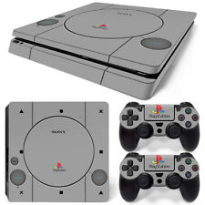 PS4 SLIM Skin Sticker Kit - PLAYSTATION 1 PS1 Retro Style - Removable Vinyl