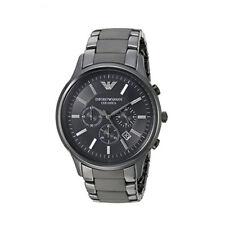 New In Box Emporio Armani AR1451 Ceramic Black Dial Ceramic Mens Watch 13mm Case