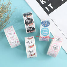 500pcs/roll Thank You Stickers For Seal Labels 1 Inch Gift Packaging Sticker