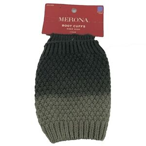New MERONA Shades of Gray Knee High Pair of Boot Cuffs Size: OSFM