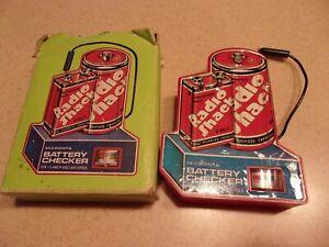 Radio Shack Battery Checker VINTGE  works. with box  Box is damaged Korea Tandy