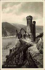 Burg Ruine Castle EHRENFELS Rhein bei Rüdesheim alte Postkarte ungelaufen ~1930