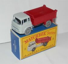 60s.3 Matchbox. Lesney Bedford Volquete Camión, ruedas de plástico gris. MIB, Todo Original