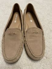 Coach Womens Shoes Tan Suede Loafers Size 8 Lug Sole