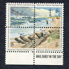 4 NATIONAL PARKS se-tenant US stamps Scott 1451a Excellent Condition  MNH (7-A2)
