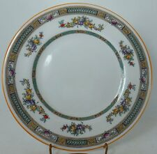 """ROYAL DOULTON china H1497 pattern ENAMELED FLOWERS Luncheon Plate @ 9"""""""