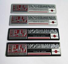 NEW YOSHIMURA  JAPAN Exhaust Aluminium plate emblem sticker Set of 4