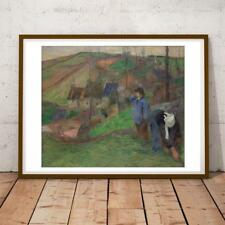 Gauguin French Post Impressionist Landscape Of Brittany 28X22 Inches Art Print