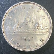 AU++ 1951 ARNPRIOR George VI Canada Silver Dollar Coin! BEAUTIFUL!