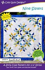 Nine Sisters Quilt Pattern by Cozy Quilt Designs Jelly Roll Friendly